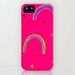 Rainbow in the sky iPhone Case