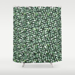 shapes and leaves Shower Curtain
