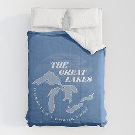 The Great Lakes - Unsalted & Shark Free (Inverse) Comforters