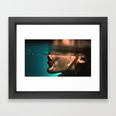 Somn Kiss Framed Art Print