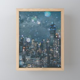 New York Skyline Framed Mini Art Print