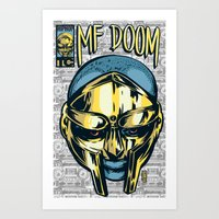 mf doom Art Prints featuring MF Doom Comic by Thomcat23