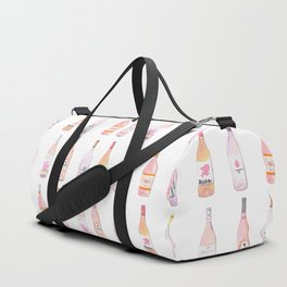 Watercolor Rosé Wine Bottles Duffle Bag