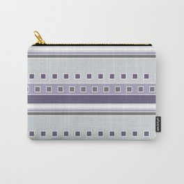 Squares and Stripes in Purple and Gray Carry-All Pouch