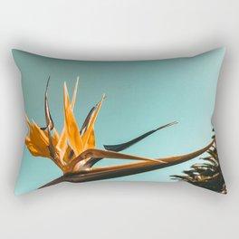 Birds of Paradise Print {1 of 3} | Palm Trees Ocean Summer Beach Teal Photography Art Rectangular Pillow