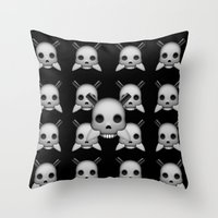 skeletor Throw Pillows featuring Skeletor by Mountain View Art