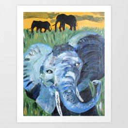 Sunny Safari - Panel 2 Art Print