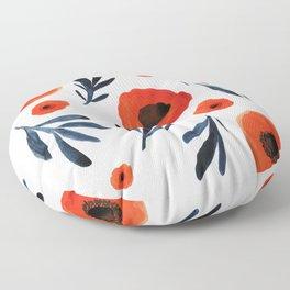 Red Poppies Specimen Floor Pillow