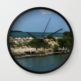 Chilling on the Water Wall Clock