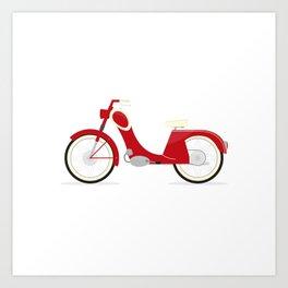 Moped Art Print
