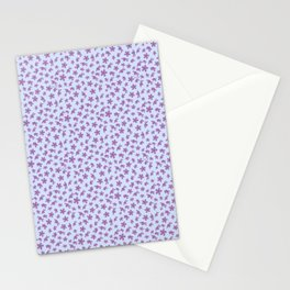 Wildflowers Blowing Free in Blue and Purple Stationery Cards