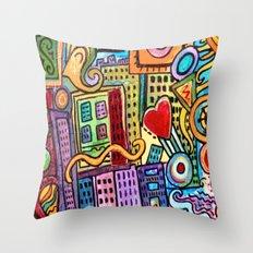 Pretty City Throw Pillow