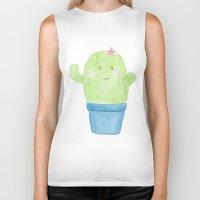 cacti Biker Tanks featuring Cute Cacti by belgoldie