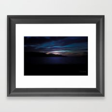 At the end of the island Framed Art Print