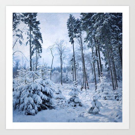 February Forest Art Print