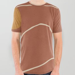 Minimal Abstract Art Landscape 2 All Over Graphic Tee