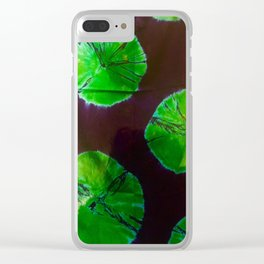 Green Moon Clear iPhone Case