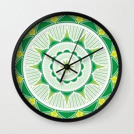Green Flower Wall Clock