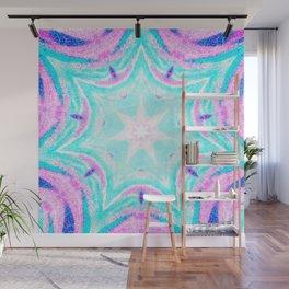 Pink & Blue Star Explosion Light Wall Mural