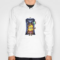 ballon Hoodies featuring  Yellow Doll  hold ballon doctor with blue phone booth by JanaProject