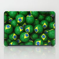 brazil iPad Cases featuring BRAZIL FOOTBALLS by AMULET