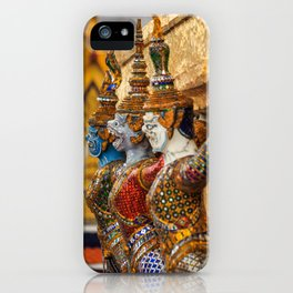 Yaksha guardians at the Grand Palace or Wat Phra Kaew, Bangkok, Thailand. A beautiful fine art photography of my wanderlust in south east Asia. iPhone Case