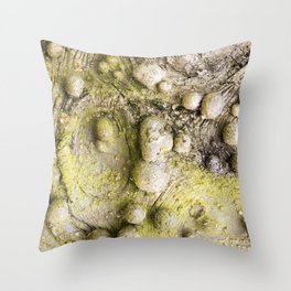 Tree Bark Close up with Burl Growth Throw Pillow