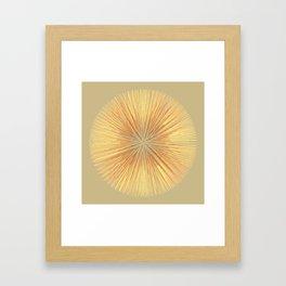 Burst (ochre) Framed Art Print