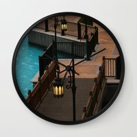 arab Wall Clocks featuring Dubai Burj Al Arab Walkway by gdesai