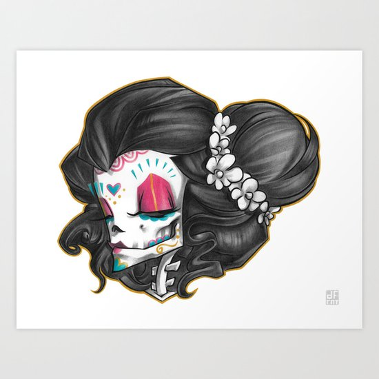 Madame Muerte COLOR Art Print