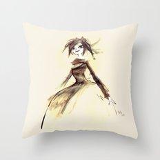 Gothic Lady Throw Pillow