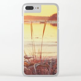 Winter Sunset on the River Clear iPhone Case