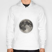 type Hoodies featuring The Moon  [Sans Type] by Heather Landis