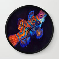 duvet cover Wall Clocks featuring AMAZING CREATURE DUVET COVER by aztosaha