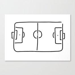 soccer football field Canvas Print