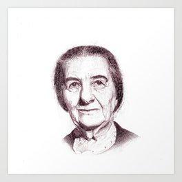 Golda Meir Art Print