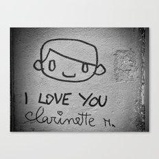 I Love You Clarinette! Canvas Print