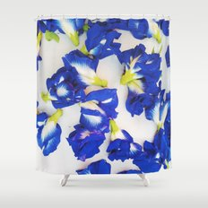 Pea Flower Shower Curtain