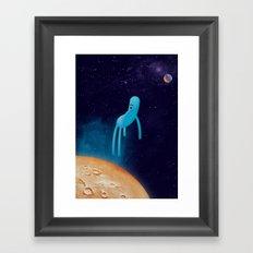 b l u Framed Art Print