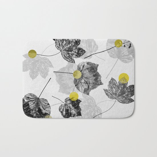Leaves Abstract 1 Bath Mat