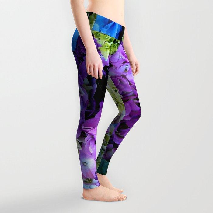 Colorful Flowering Bush Leggings