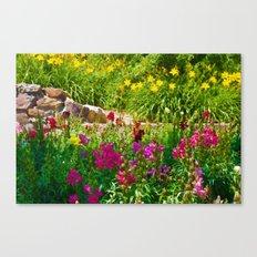 A colorful garden Canvas Print