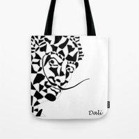 dali Tote Bags featuring Dali by Blake Thornley