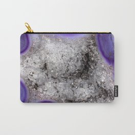 Agate druzy crystals close up Carry-All Pouch