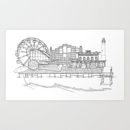 The Jersey Shore by the Downtown Doodler Art Print