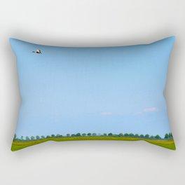 blue sky green grass Rectangular Pillow