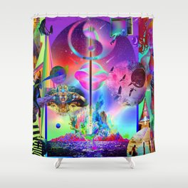 'Healing All Galactic Timelines' Shower Curtain
