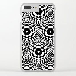 Throw Everything Black Clear iPhone Case
