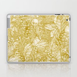 forest floor gold ivory Laptop & iPad Skin