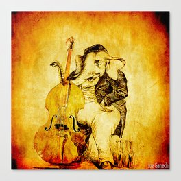 The elephant in the double bass Canvas Print